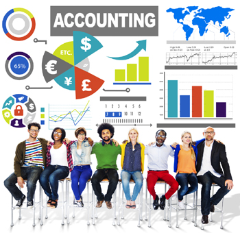 Accounting A level course conceptual image