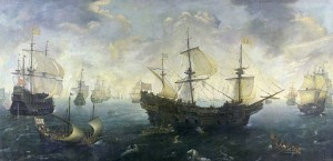 The Spanish Armada off the English coast, by Cornelis van Wierling, c.1625.