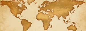 Antique Historical map of the world