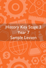 Cover Image for History Sample Lesson KS3 Year 7