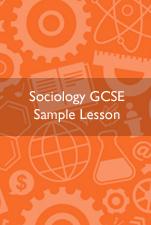 Sociology GCSE Sample Lesson Cover