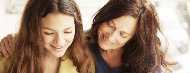 Home Schooling Mother Mentoring Her Daughter through GCSE Study Pack