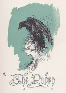 Cover Art for Edgar Allen Poe's The Raven