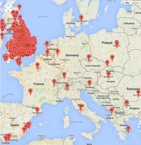 Static Examinations Map Europe