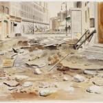 Deserted, destroyed London