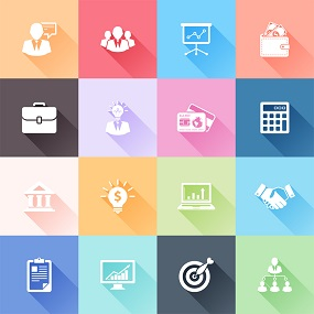 Tiled image representing various Business concepts