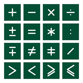 Tiled Mathmatical Symbols