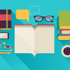 Conceptual Image of English A level students desk