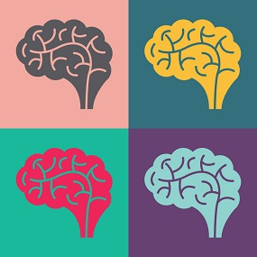 Andy warhol style images of the brain, Psychology
