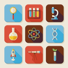 Tiles of Science related images